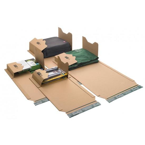 Boekverpakking bruin - 217mm x 155mm x 60mm