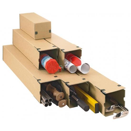 Lange kartonnen doos met plakstrip - 435mm x 105mm x 105mm