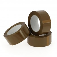 PP verpakkingstape havana - acryl - geruisloos - 100M x 48mm 28µ