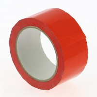 PVC verpakkingstape rood - 66M x 50mm 33µ